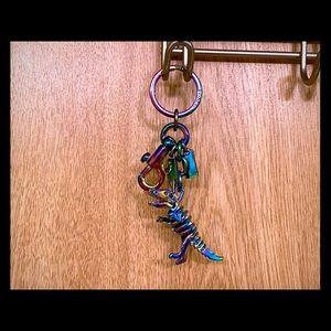Coach Rexy Metallic/Hologram/Oil Slick Keychain